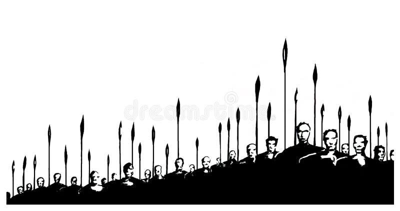 För strid stock illustrationer