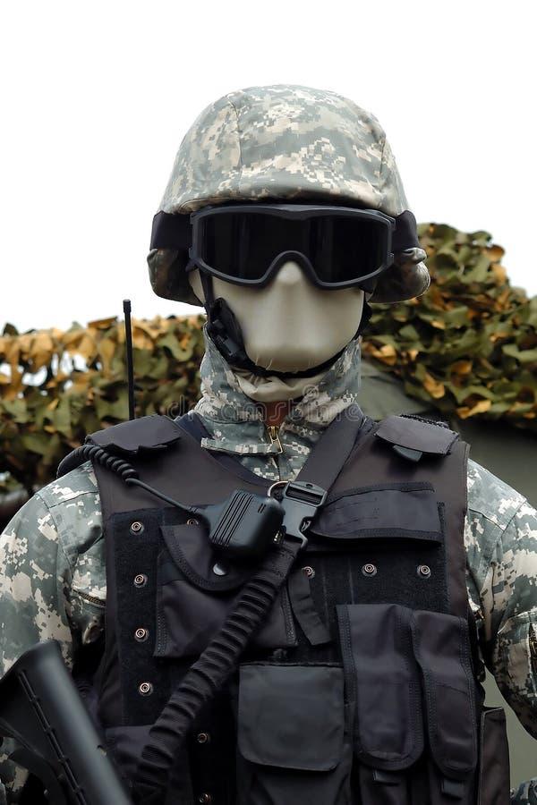 för stridpolis för 3 armé likformig fotografering för bildbyråer