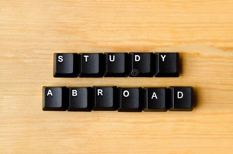 För studie ord utomlands arkivbild