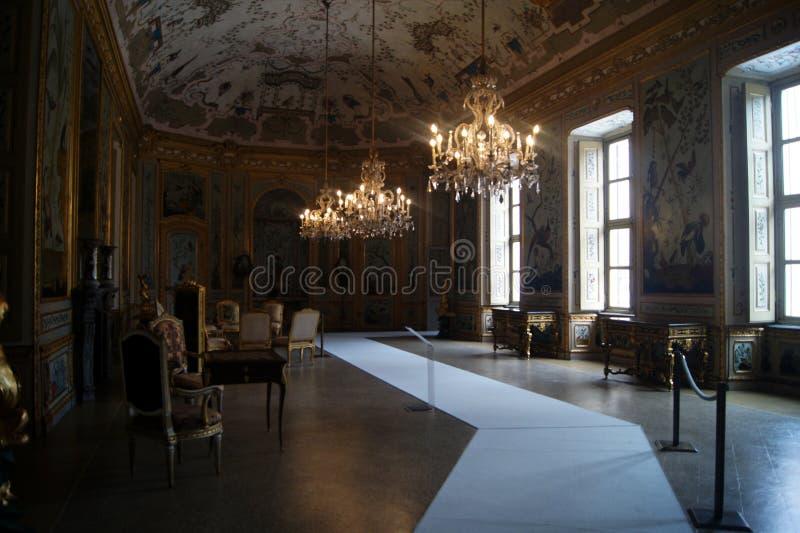 För Stupinigi- Italien Turin för kunglig slott rum japan, gamming rum royaltyfria bilder