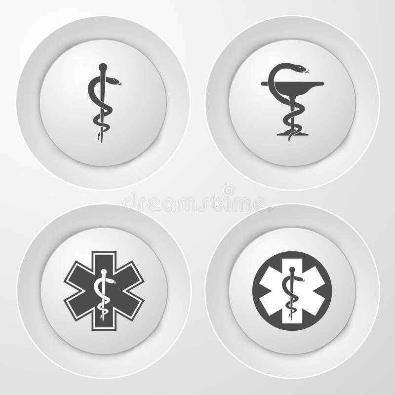 för svart ändringssymbolslever medicinsk för skydd white enkelt Nöd- symbol Vituppsättning royaltyfri illustrationer