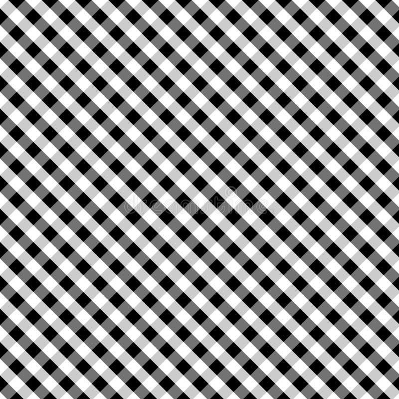 för svart seamless väv korsgingham för bakgrund vektor illustrationer