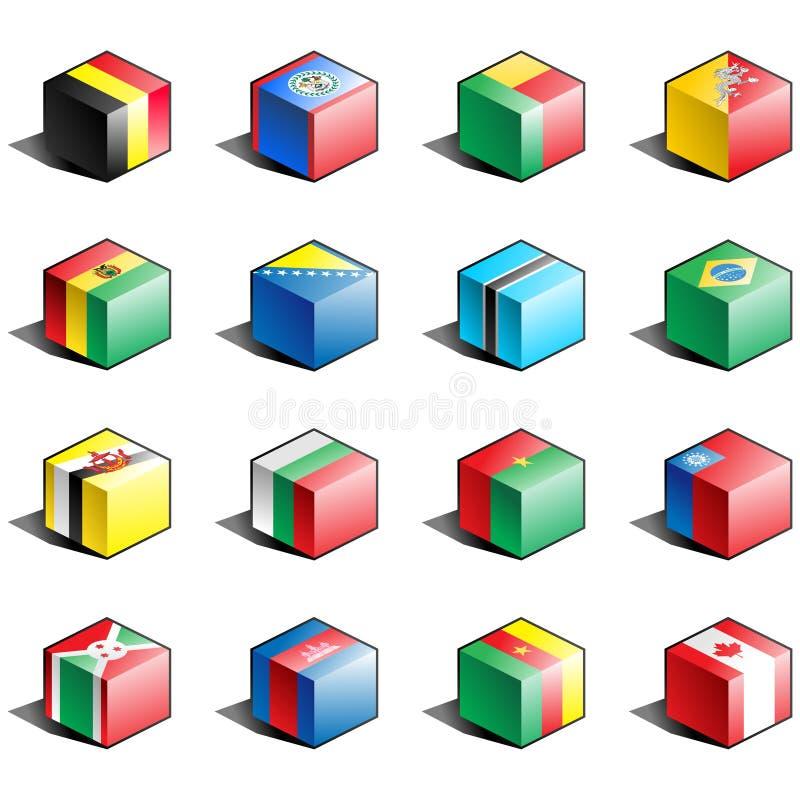 för symbolsdel för 2 flagga set royaltyfri illustrationer