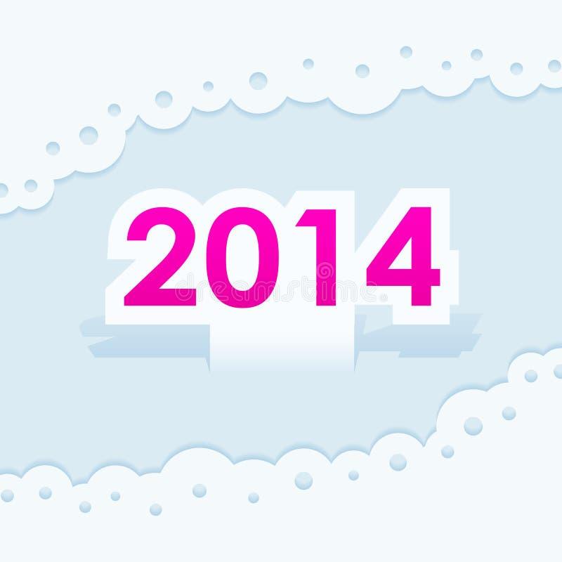 För symbolskort för nytt år jul 2014 royaltyfri illustrationer