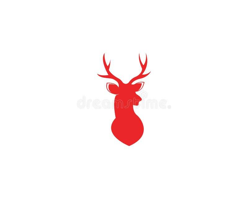 För symbolslogo för hjortar head illustration för vektor för design stock illustrationer