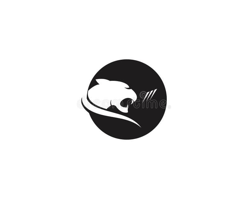 För symbolslogo för kuguar head mall för vektor stock illustrationer