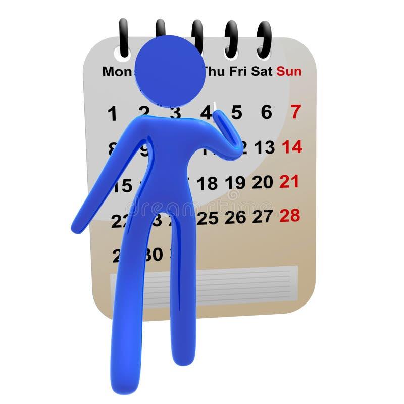för symbolsmarkering för kalender 3d pictogram vektor illustrationer