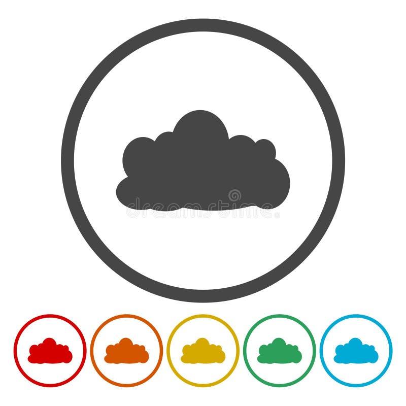 för symbolsmodell för oklarhet 3d white Cirkelsymbol royaltyfri illustrationer
