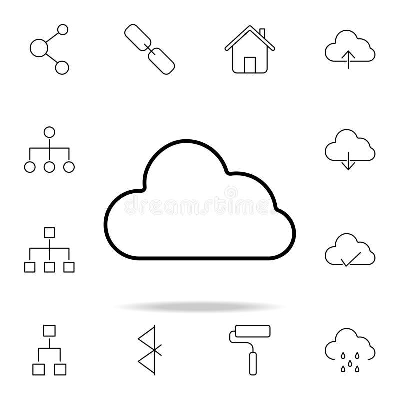 för symbolsmodell för oklarhet 3d white Detaljerad uppsättning av enkla symboler Högvärdig grafisk design En av samlingssymbolern royaltyfri illustrationer