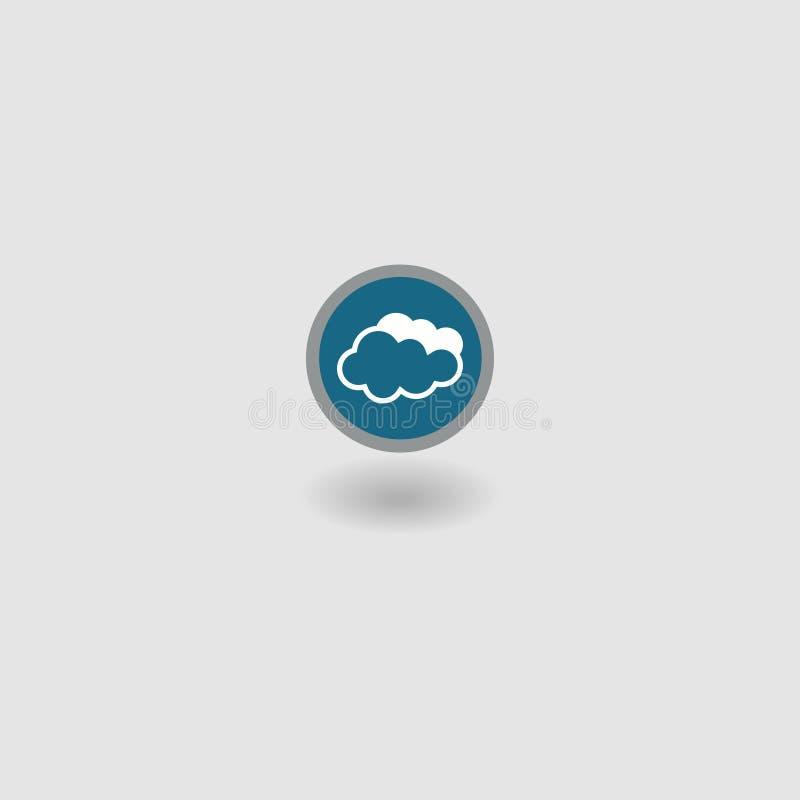 för symbolsmodell för oklarhet 3d white sky också vektor för coreldrawillustration 10 eps stock illustrationer
