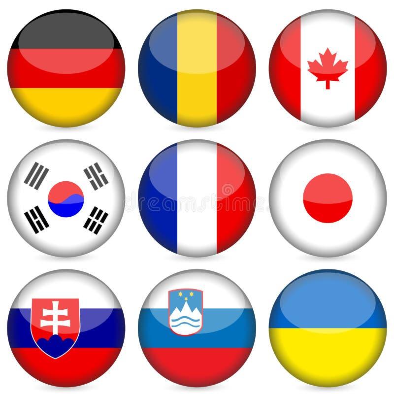 för symbolsnational för 3 flagga set