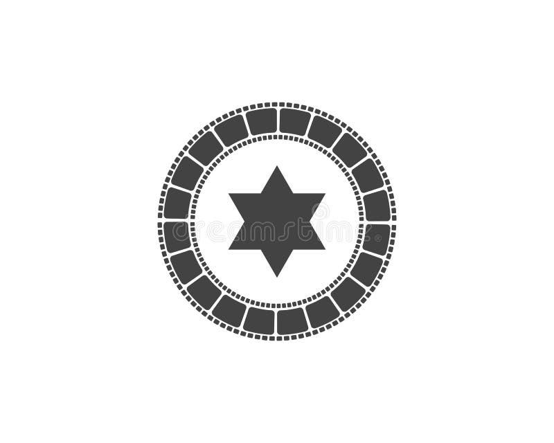 för symbolsvektor för abstrakt film illustration stock illustrationer