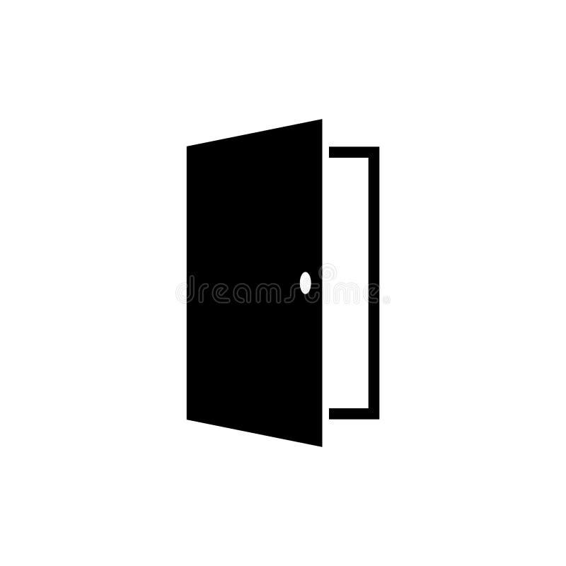 För symbolsvektor för dörr plan illustration arkivfoto