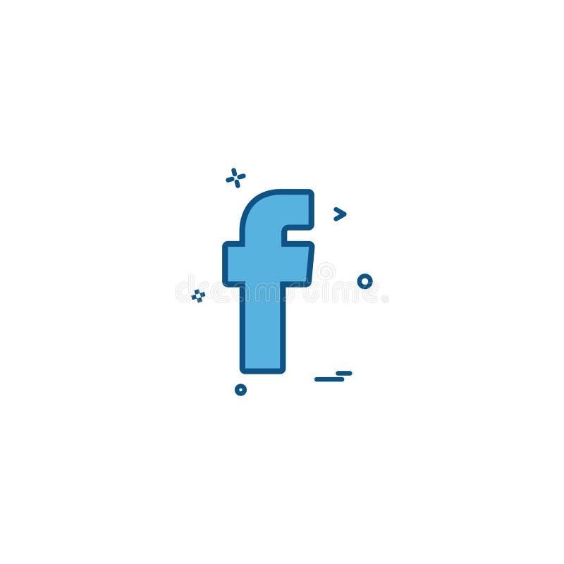 för symbolsvektor för facebook social design vektor illustrationer