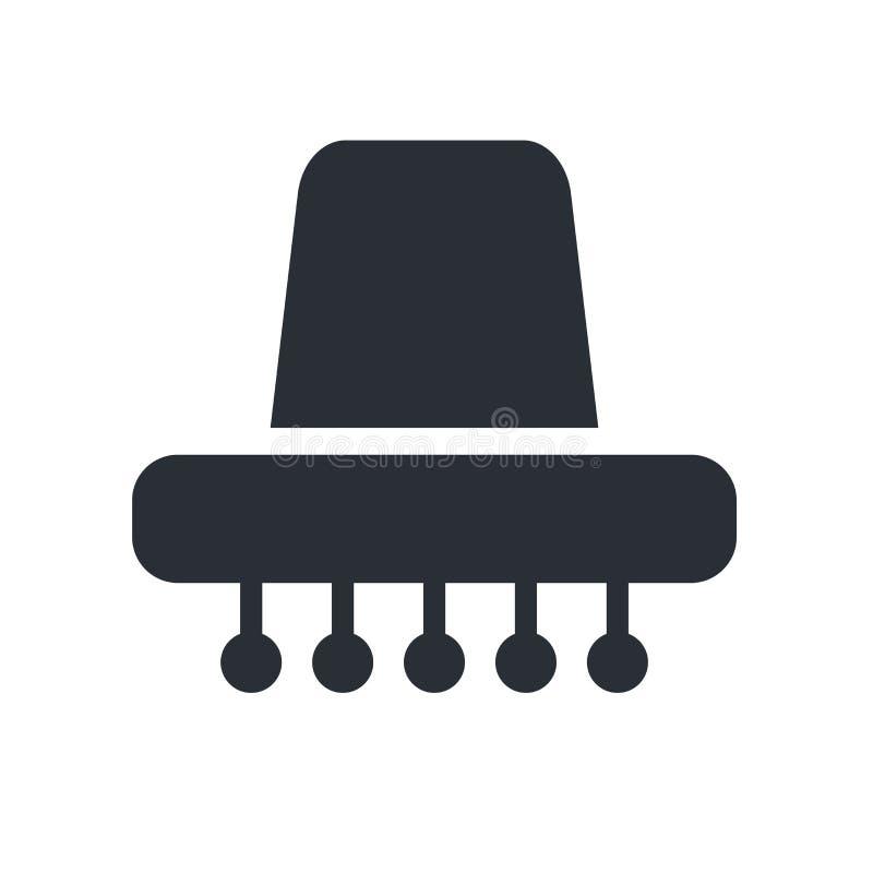 För symbolsvektor för mexicansk hatt som tecken och symbol isoleras på vit backgr stock illustrationer