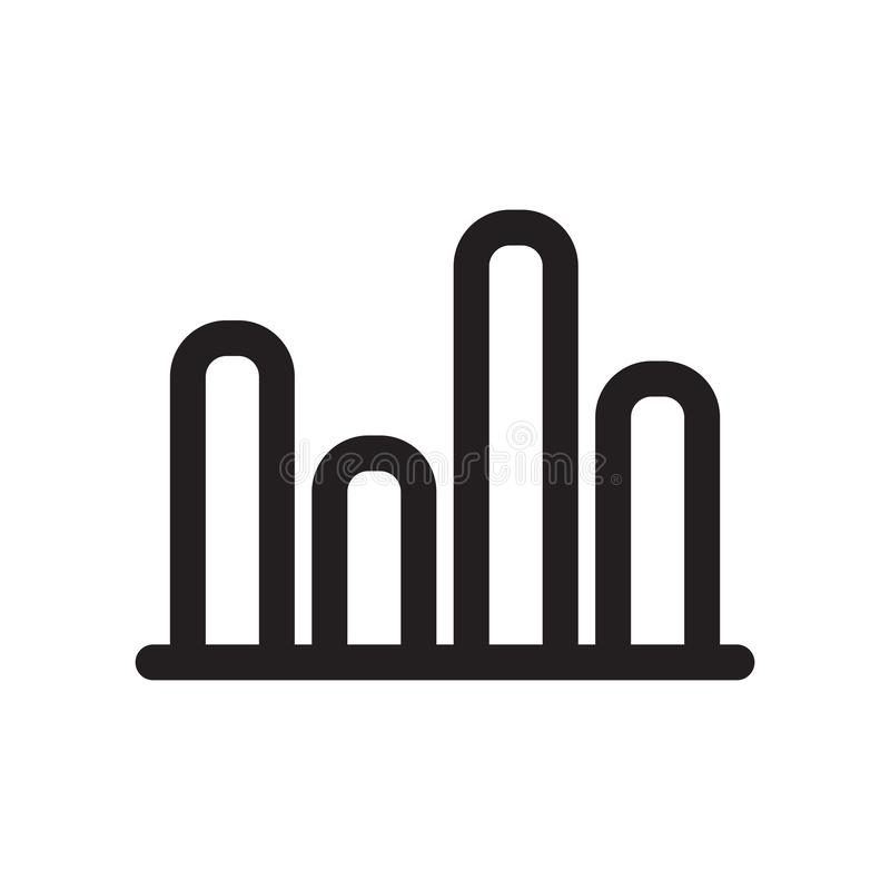 För symbolsvektor för stänger som bommar för det grafiska tecknet och symbolet isoleras på vit bakgrund, grafiskt logobegrepp royaltyfri illustrationer