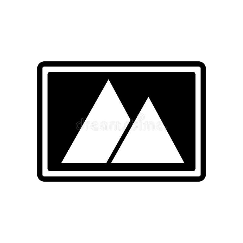 För symbolsvektor för två pyramider som tecken och symbol isoleras på vit backg stock illustrationer