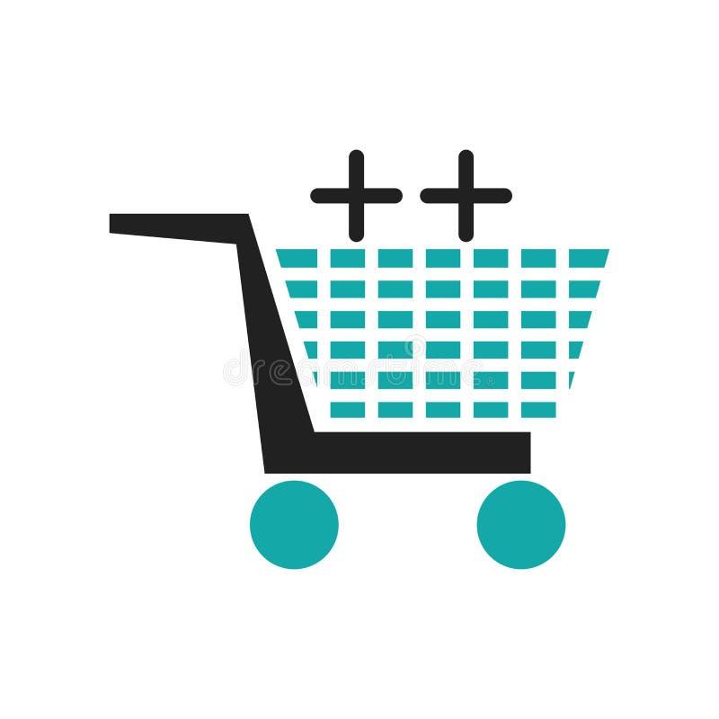 För symbolsvektor för vagn som grafiskt tecken och symbol isoleras på vit bakgrund, grafiskt logobegrepp för vagn vektor illustrationer