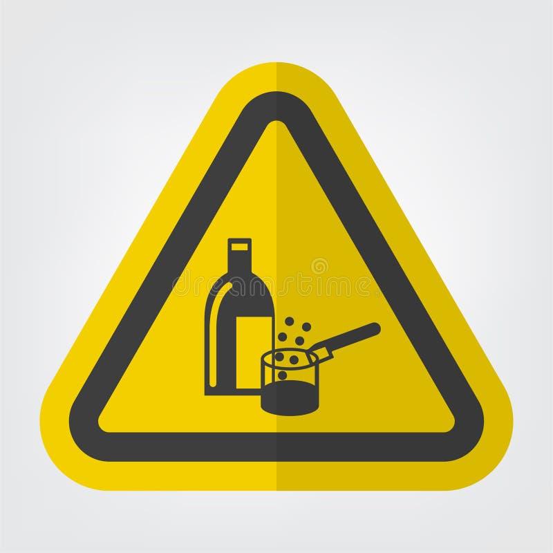 För symboltecken för kemikalieer isolat i bruk på vit bakgrund, vektorillustration EPS 10 royaltyfri illustrationer