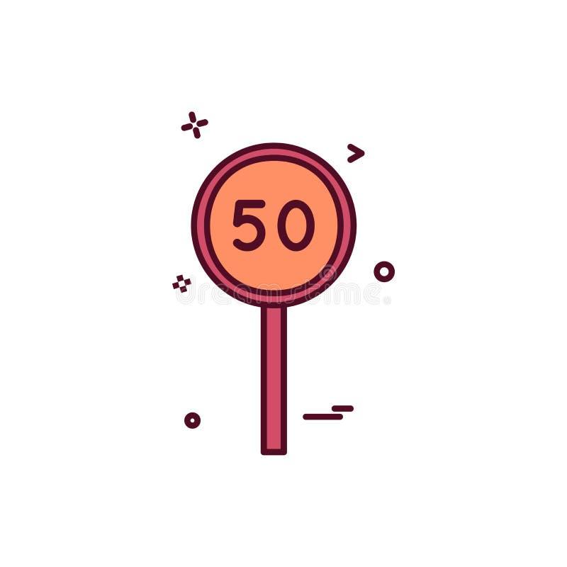 för syrsasymbol för femtio slagman design för vektor stock illustrationer