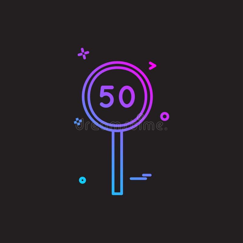 för syrsasymbol för femtio slagman design för vektor vektor illustrationer