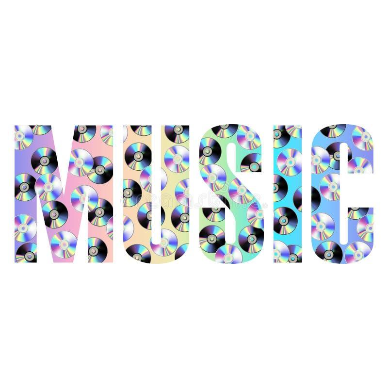 För T-tröjamode för musik abstrakt tryck med holographic CDskivor vektor illustrationer