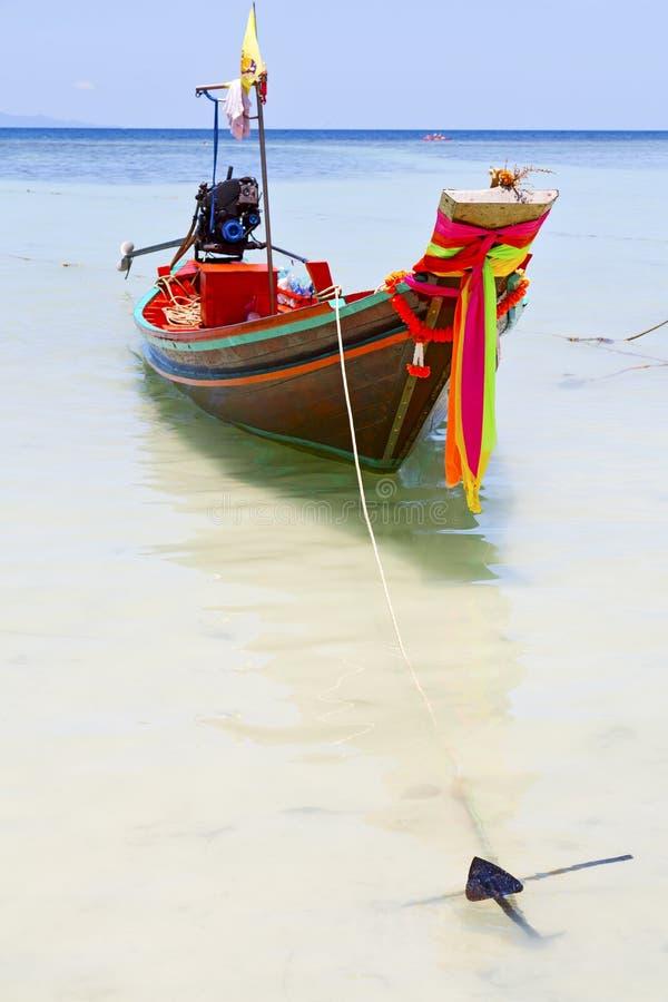 För tao för ankarThailand kho för asia fjärd blått ö royaltyfria bilder