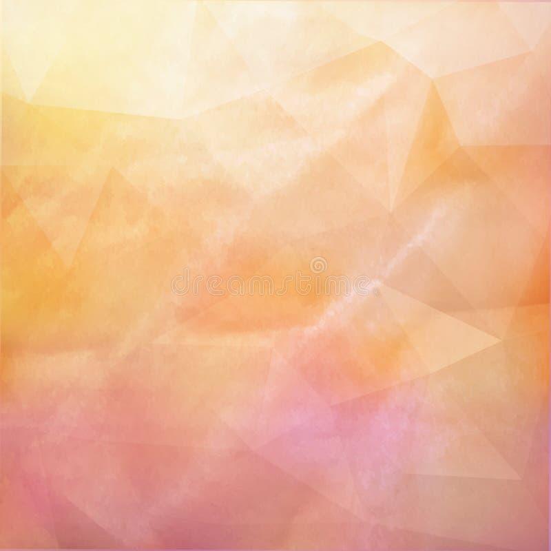 För tappningpapper för Grunge retro textur på triangelbakgrund royaltyfri illustrationer
