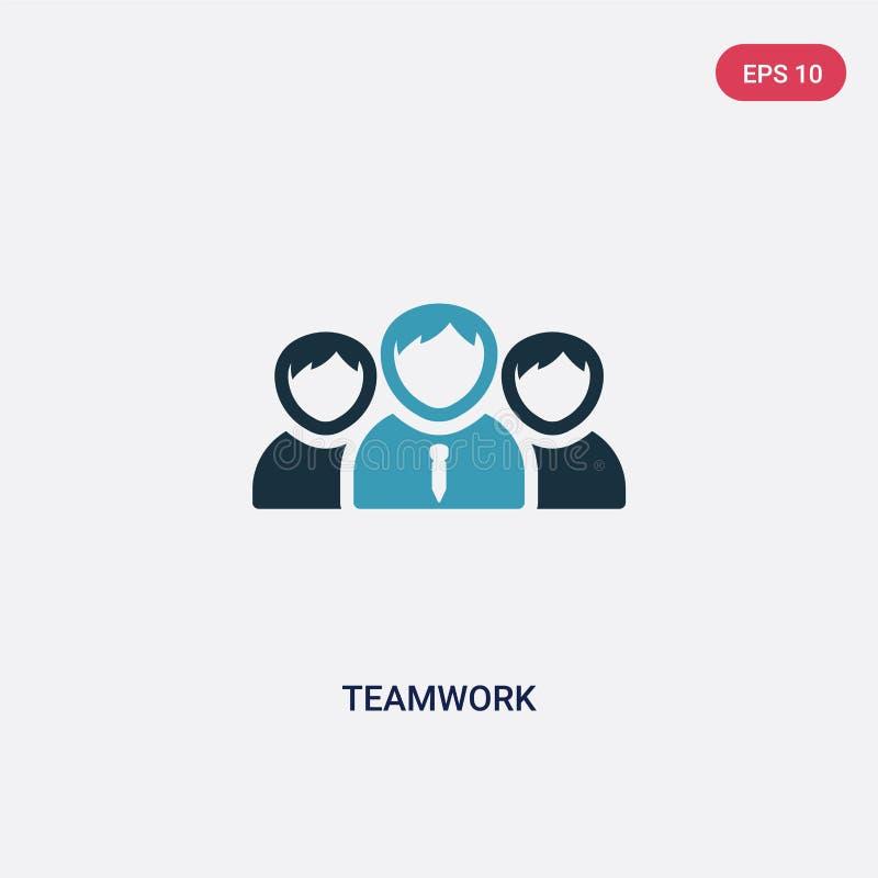 F?r teamworkvektor f?r tv? f?rg symbol fr?n strategibegrepp det isolerade bl?a symbolet f?r teamworkvektortecknet kan vara bruk f royaltyfri illustrationer