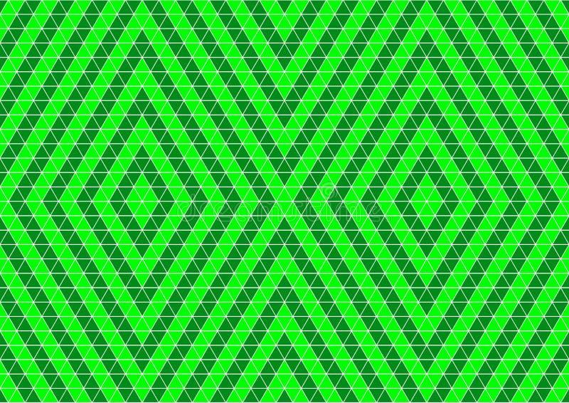 För Techno för neon gräsplan färgad geometrisk tapet för bakgrund orientalisk dekorativ sömlös modell stock illustrationer