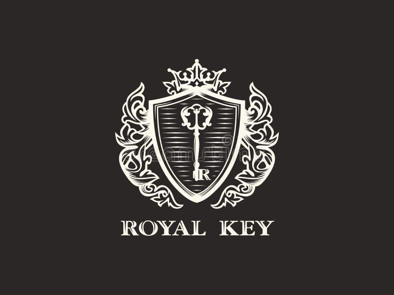 För teckenlogo för modern vektor yrkesmässig tangent för kunglig person royaltyfri illustrationer