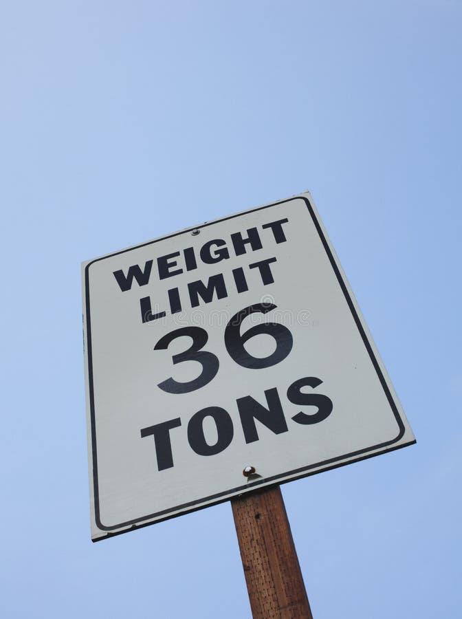 för teckenton för 36 gräns vikt arkivbilder