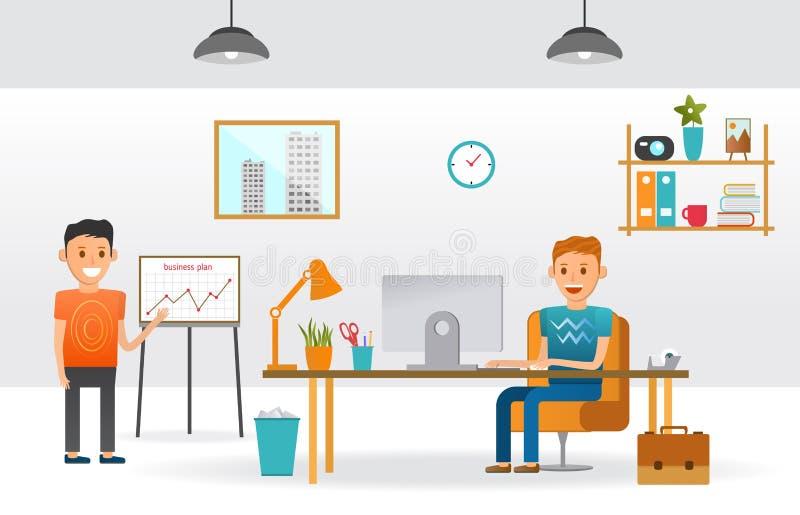För tecknad filmtecken för affär funktionsdugligt kabinett för person i regeringsställning vektor illustrationer