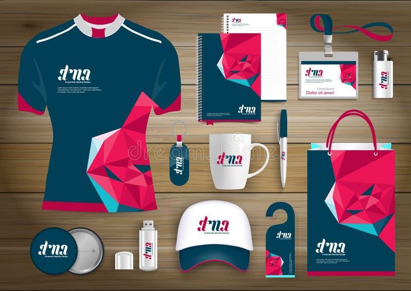 För teknologisporten för vektorn färgar den abstrakta designen med gåvaobjekt, befordrings- souvenir planlägger för företags iden stock illustrationer
