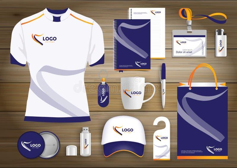 För teknologisporten för vektorn färgar den abstrakta designen med gåvaobjekt, befordrings- souvenir planlägger för företags iden royaltyfri illustrationer