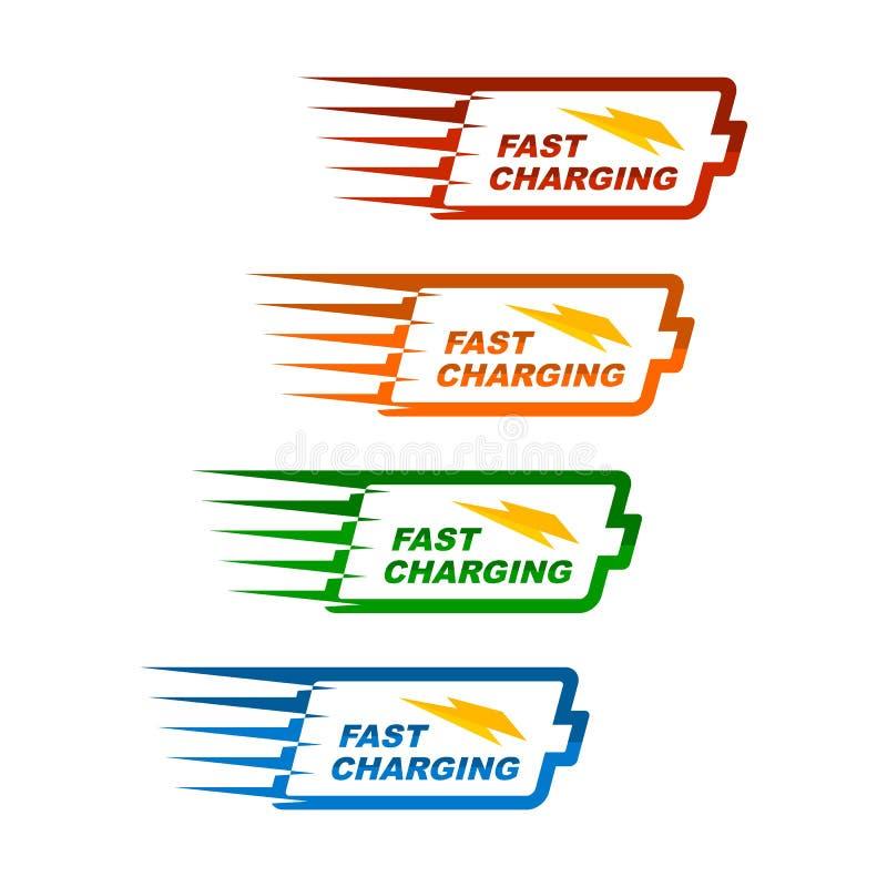 För teknologivektor för batteri snabb laddande illustration royaltyfri illustrationer