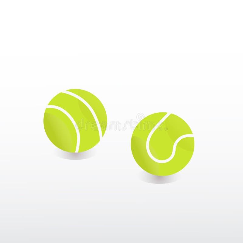 För tennisboll för vektor grön colorfull för sport stock illustrationer