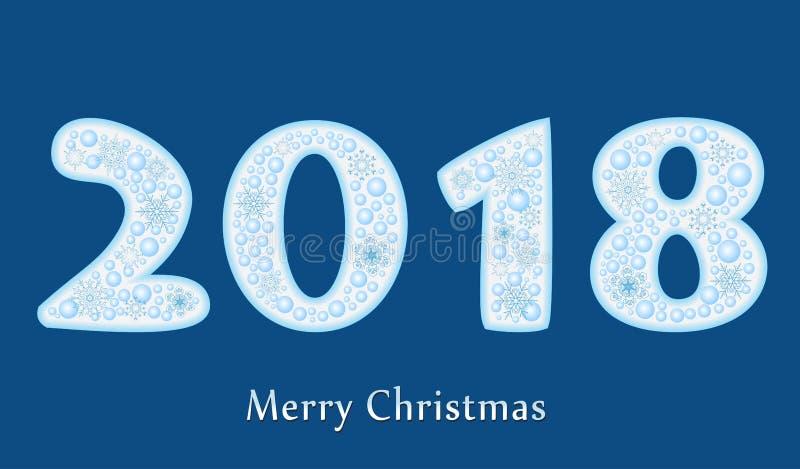 För textdesign för lyckligt nytt år som 2018 vektor är idérik för ditt hälsningskort stock illustrationer
