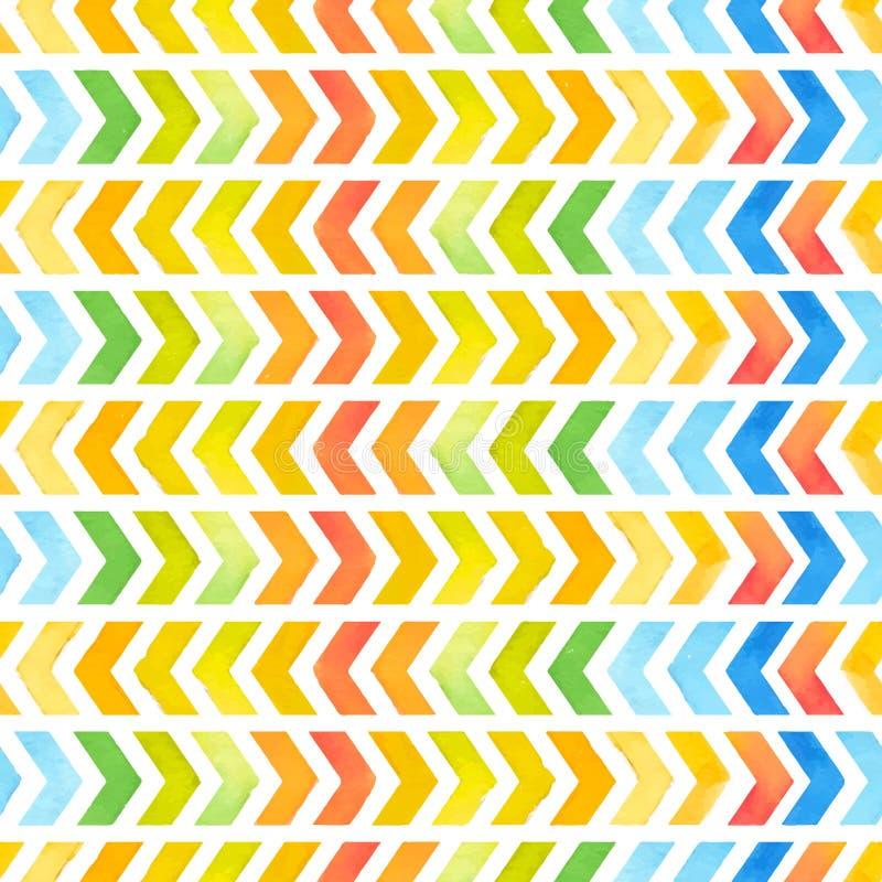 För textilinspiration för Navajo aztec modell för vattenfärg Inföding amer vektor illustrationer