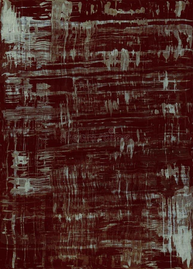 För texturbakgrund för mörk brunt tapet stock illustrationer