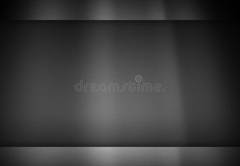 För texturfriläge för metall mörk bakgrund stock illustrationer