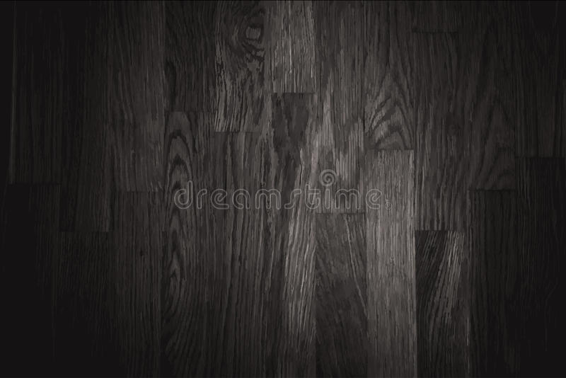 för texturvägg för bakgrund svart trä stock illustrationer