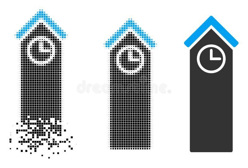 För Tid för rörande PIXEL rastrerad symbol torn royaltyfri illustrationer