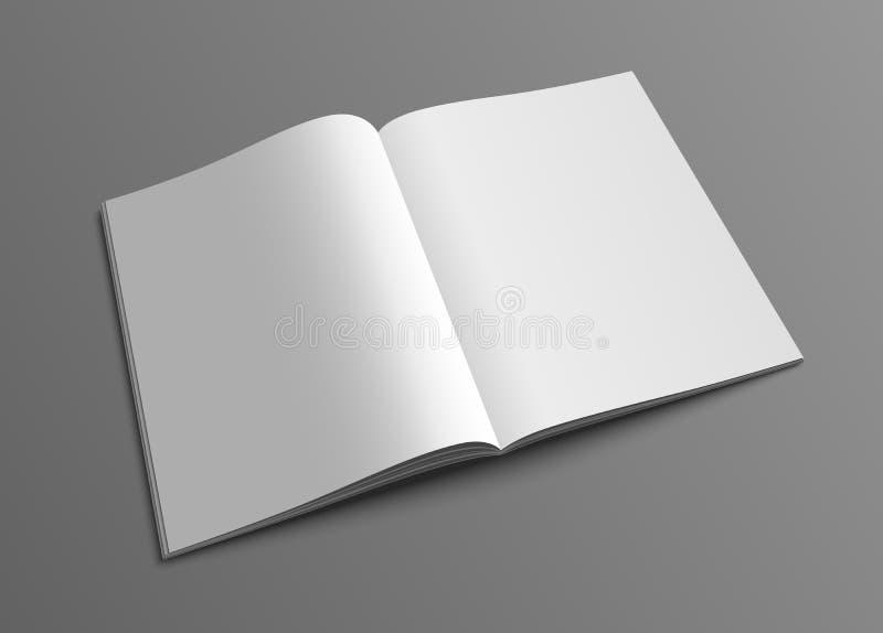 För tidskrift- eller broschyrmodell för vektor öppen mall royaltyfri illustrationer
