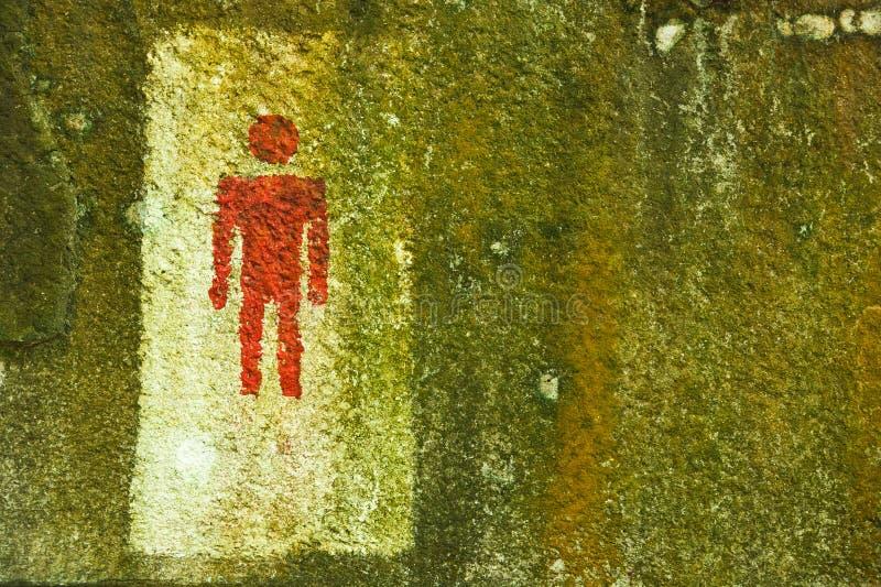 för toaletttecken för män offentlig wc för toaletter arkivfoton