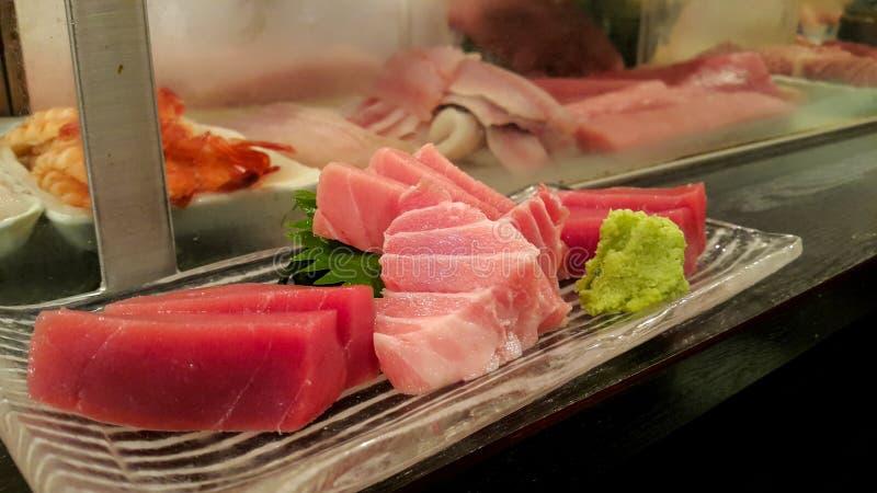 För tonfiskfiskar för blandning ny sashimi royaltyfri foto