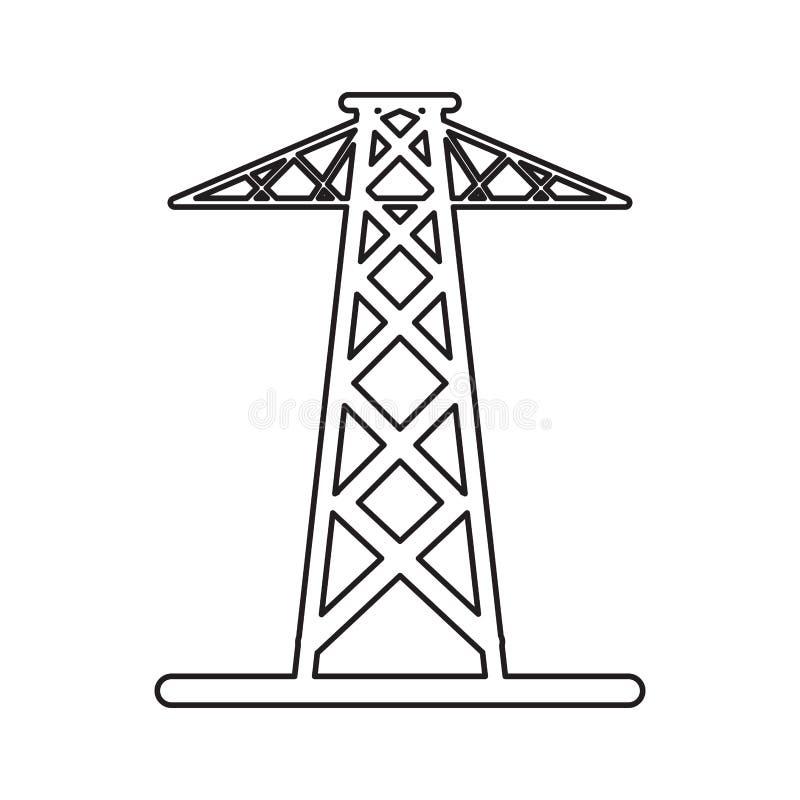 För tornöverföring för Pictogram elektrisk makt för energi royaltyfri illustrationer