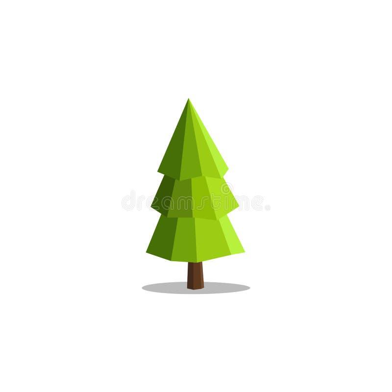 För trädvektor för unik modern abstrakt polygon geometriska illustrationer stock illustrationer