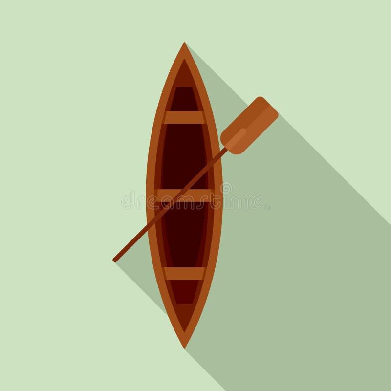 För träfartyg för bästa sikt symbol, plan stil vektor illustrationer