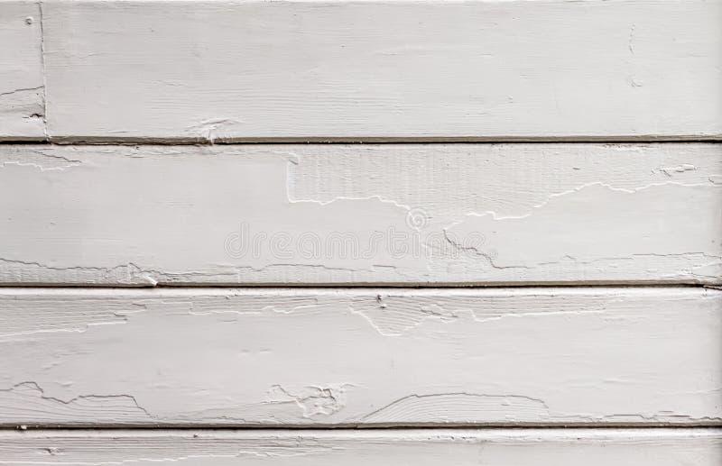 För träladugård för tappning vit målad sid royaltyfri bild